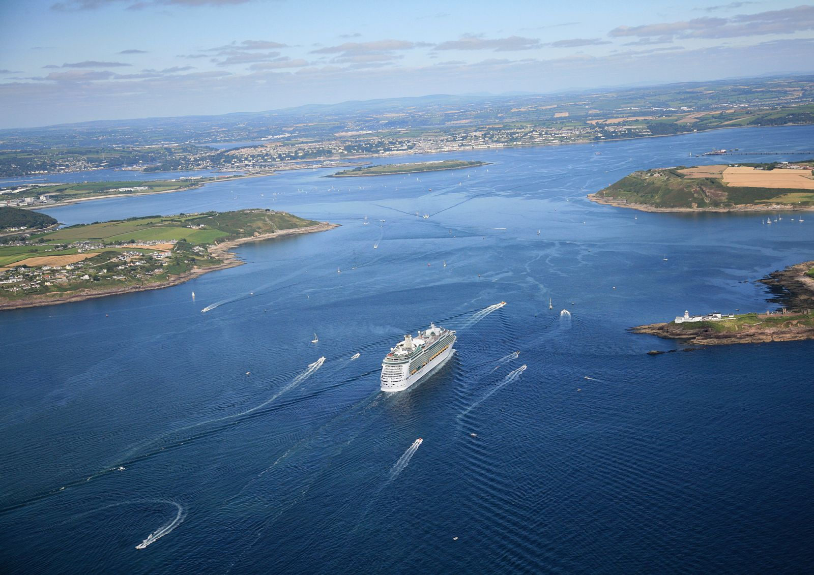 Aerial view of Cork Harbour